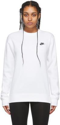 Nike White Sportswear Crewneck Sweatshirt