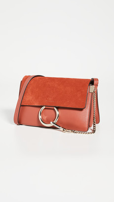 What Goes Around Comes Around Chloe Red Leather Faye Shoulder Small Bag