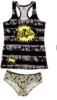 Briefly Stated Womens Junior 2pc Batman Cami and Panty Set
