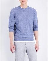 Brunello Cucinelli Crewneck Knitted Linen-cotton Blend Jumper