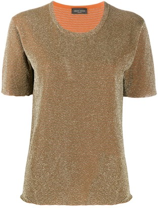 Roberto Collina short sleeved metallic T-shirt