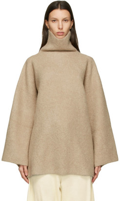 LAUREN MANOOGIAN Tan Double Face Turtleneck