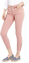 Oasis Isabella Skinny Cropped Jeans, Pale Pink