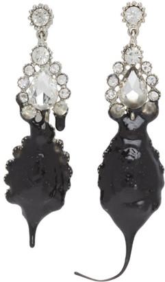 Ottolinger Black Dipping Asymmetrical Earrings