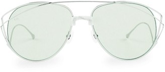 For Art's Sake Dark Eyes 61MM Teardrop Sunglasses