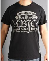 Laguna Beach Jean Co. Laguna Beach Jeans Men's Crew Neck Santa Monica Beach Black 2012 Graphic Tees