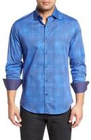 Stone Rose Men's Bold Fx Stripe Print Sport Shirt