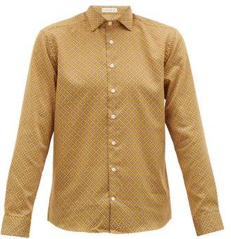 Etro Mosaic-print Cotton-poplin Shirt - Mens - Yellow Multi