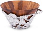 Arthur Court Grape Wood Salad Bowl with Holder