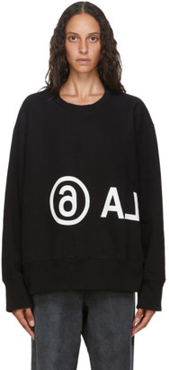 MM6 MAISON MARGIELA Black Logo Sweatshirt