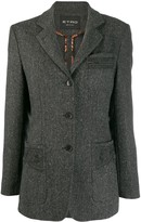 Etro herringbone patch pocket blazer