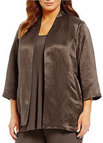 Eileen Fisher Plus 3/4 Sleeve Long Jacket