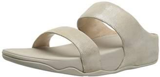 FitFlop Women's Lulu Slide Shimmer-Check Sandal