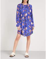 Diane von Furstenberg Floral-print silk shirt dress