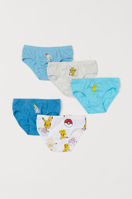 H&M 5-pack Printed Boys' Briefs - Turquoise