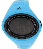 adidas ADP6128 Cerulean Blue Silicone Bracelet with 50mm Digital Watch NIB