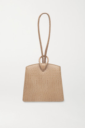 Little Liffner Loop Croc-effect Leather Tote - Sand