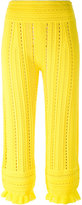 3.1 Phillip Lim Lace pants - women - Nylon/Polyester/Viscose - M