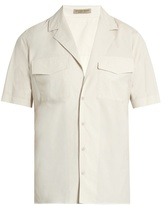 Bottega Veneta Cuban-collar Cotton Shirt