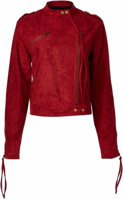 Somedays Lovin Women's Cape Faux Suede Moto Jacket