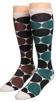 Kate Spade Deborah Dot Knee High (2 Pack) (Toast/Forest Green) - Footwear