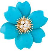 Van Cleef & Arpels Rose de Noël Turquoise Brooch