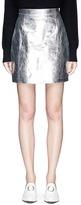 Proenza Schouler Crinkled metallic calfskin leather mini skirt