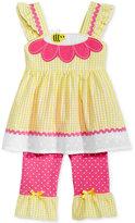 Nannette 2-Pc. Gingham Bee Tunic & Capri Leggings Set, Baby Girls (0-24 months)