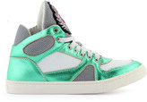 John Galliano Leather trainers with shoe laces