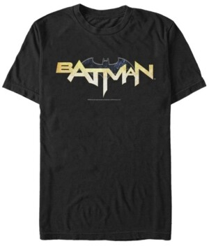 Fifth Sun Dc Men's Batman Text Logo Short Sleeve T-Shirt