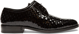 Saint Laurent Montaigne perforated patent-leather derby shoes