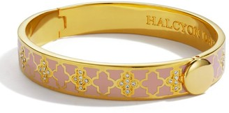 Halcyon Days Yellow Gold-Plated and Pave Agama Bangle