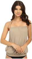 Vince Camuto Polish Blouson Tankini w/ Removable Soft Cups