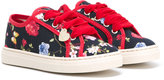 MonnaLisa floral print sneakers - kids - Cotton/Canvas/rubber - 24