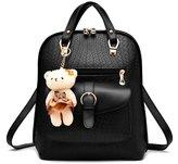 Hynbase Women Fashion Casual Cute PU Leather School Bag Backpack Shoulder Bag
