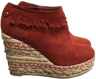 Sergio Rossi \N Red Suede Ankle boots