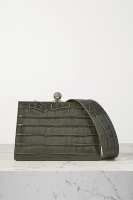 Ratio et Motus Mini Twin Croc-effect Leather Shoulder Bag - Gray
