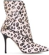 Manolo Blahnik Daina printed leopard ankle boots