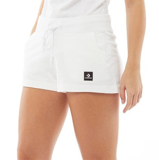 Converse Womens Essentials Lightweight Fleece Shorts White