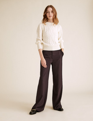 Marks and Spencer High Waisted Wide Leg Trousers