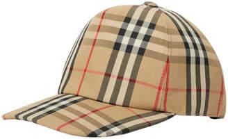 Burberry Heavy Cotton Check Trucker Cap