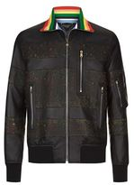 Paul Smith Perforated Florals Leather Jacket