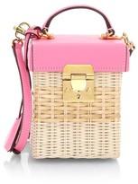 Mark Cross Grace Cube Rattan Crossbody Bag