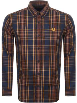 Fred Perry Long Sleeved Shirt Navy