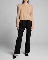 Loulou Studio Cashmere Cropped Boxy Sweater