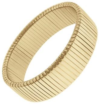 Janis Savitt Medium Flat Rib Cobra Bracelet - Yellow Gold