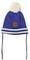 Mini Rodini Stripe Hat Blue