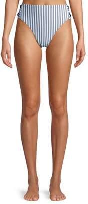 Time and Tru Women's Mini Stripe Printed Swimsuit Bottom