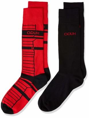 HUGO BOSS Men's 2p Stripe Cc Calf Socks