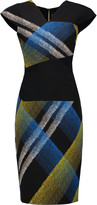 Roland Mouret Beadle printed wool-blend dress